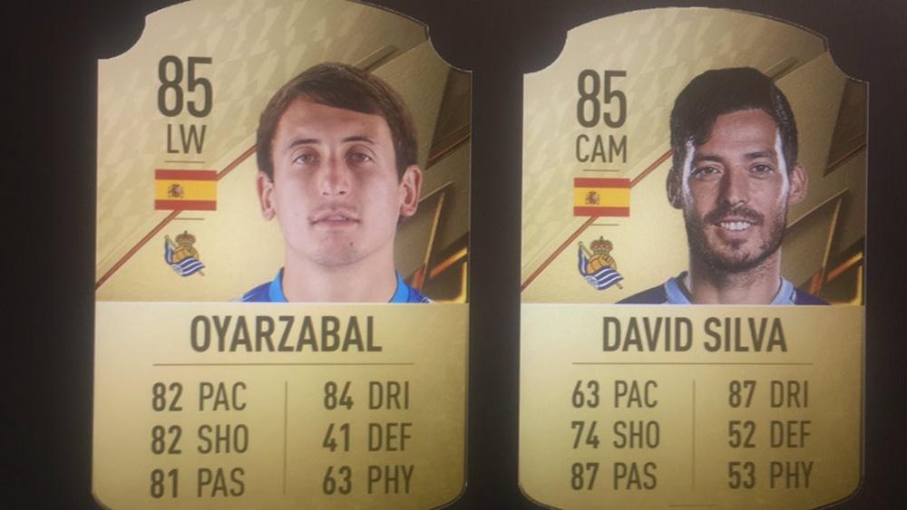 Cartas de Mikel Oyarzabal y David Silva en FIFA 22. EA Sports