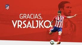 Thank you Vrsaljko. Twitter/Atleti