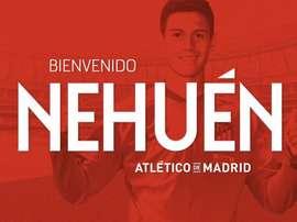 Nehuén répondra sous les ordres de Simeone. Twitter/Atleti