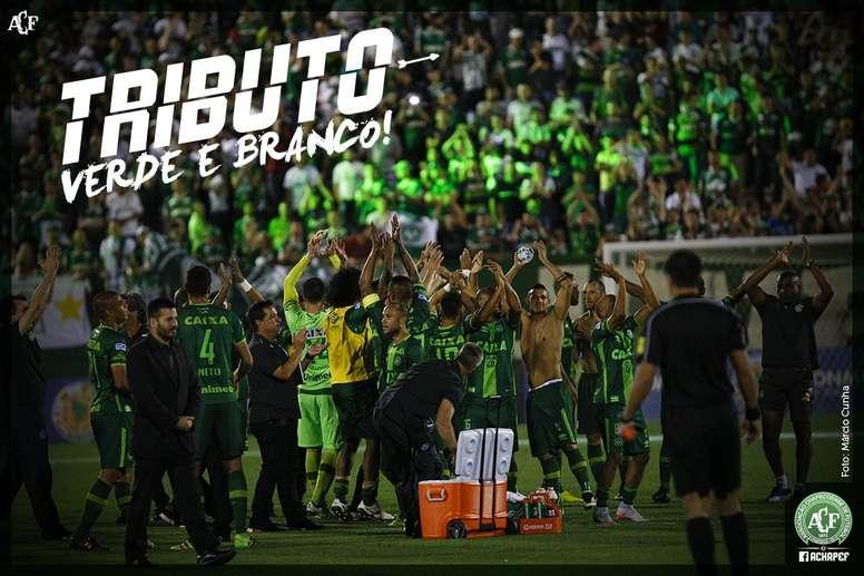A torcida da Chapecoense se reunirá no estádio Arena Condá. Chapecoense