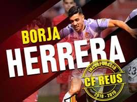 Borja Herrera ya es jugador del Reus. Twitter/CFReusDeportiu