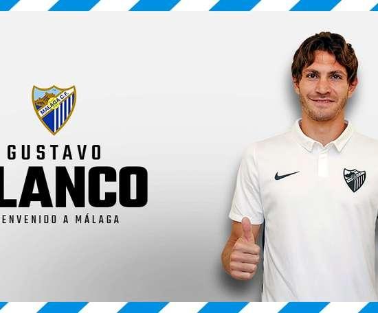 Gustavo Blanco, nuevo jugador del Málaga. MálagaCF