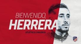 Herrera foi anunciado no Atlético de Madrid. Atleti
