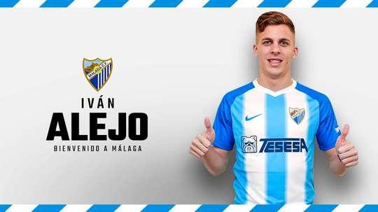 Alejo llega al Málaga. Twitter/MalagaCF