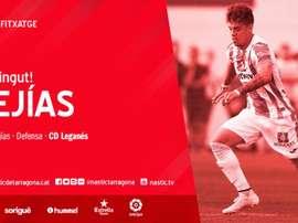 Mejías jugará cedido en el Nàstic de Tarragona. Twitter/NasticTarragona