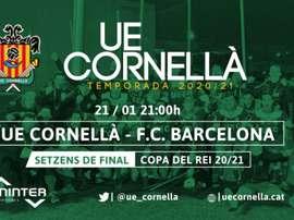 El Cornellà puso a la venta entradas virtuales.  Twitter/ue_cornella