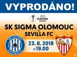 Ambos se citan para la Europa League. Twitter/SKSigmaOlomouc