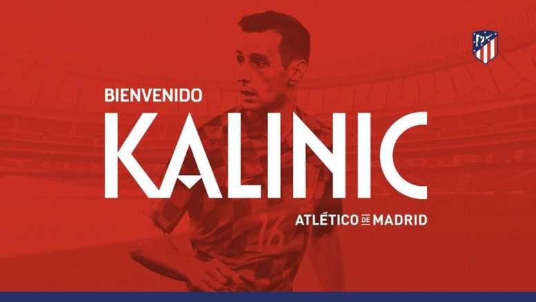 Kalinic est un joueur de l'Atlético. Twitter/Atleti
