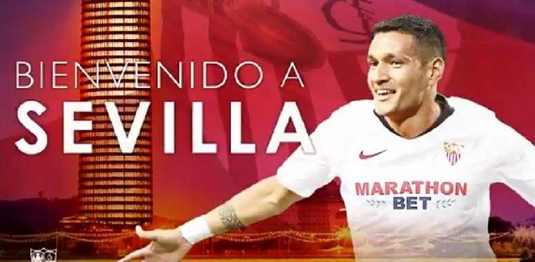 Rony Lopes ya es del Sevilla. SevillaFC/Captura