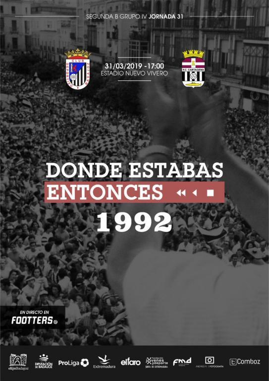 Un partido de mucho sentimiento para el Badajoz. CDBadajoz