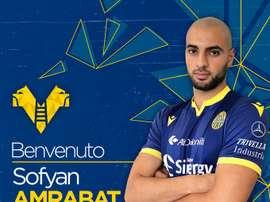 Amrabat has joined Hellas Verona on a loan switch from Brugge. HellasVeronaFC