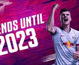 Werner renova com o RB Leipzig até 2023. RBLeipzig