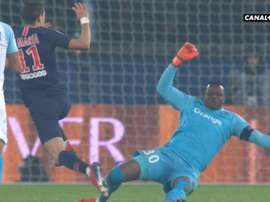 Carton rouge de Mandanda. Capture/Canal+