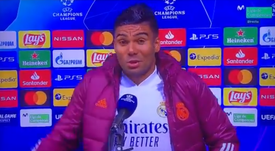 Casemiro spoke about the last minute draw Real Madrid got. Screenshot/MovistarLIgaCampeones