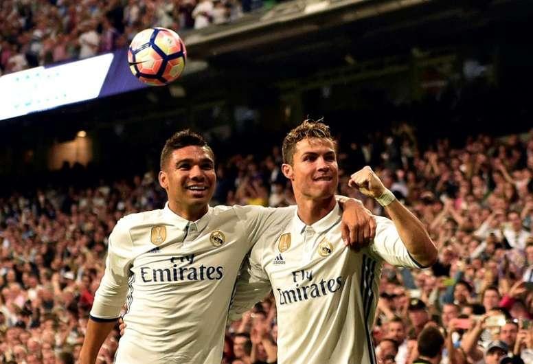 Jornal espanhol compara Casemiro a Cristiano Ronaldo. AFP
