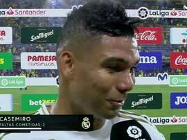 Madrid is lost without Casemiro. Captura/Movistar