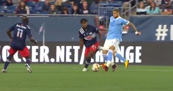 Castellanos ofreció una espectacular asistencia con el exterior. Twitter/MLS
