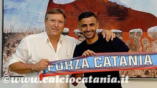 Catania jugará en el Catania, en su ciudad natal. Twitter/Catania