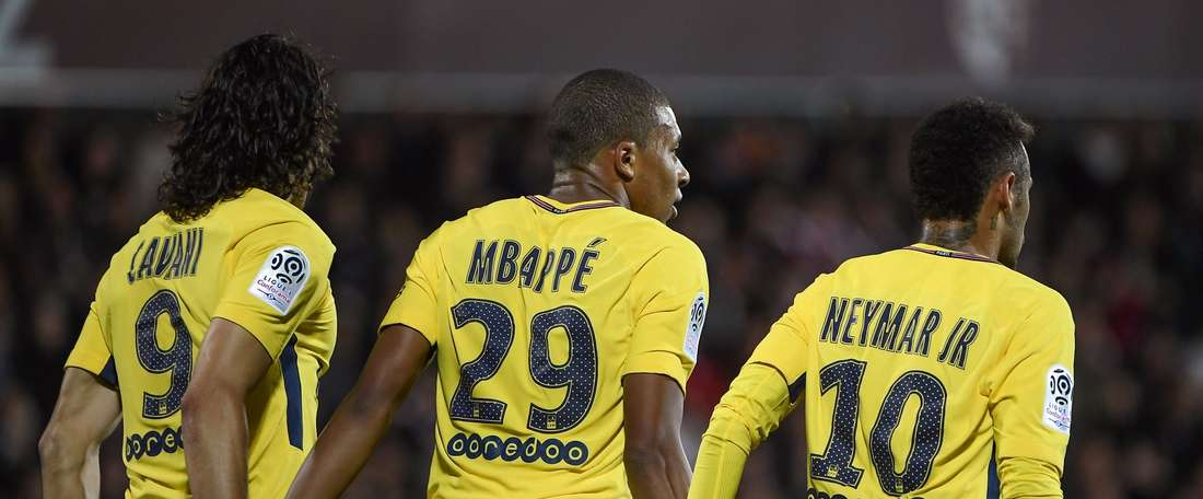 O PSG venceu por 1-4 na visita ao Rennes. Twitter