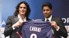 Cavani a rejoint le PSG il y a six ans. EFE