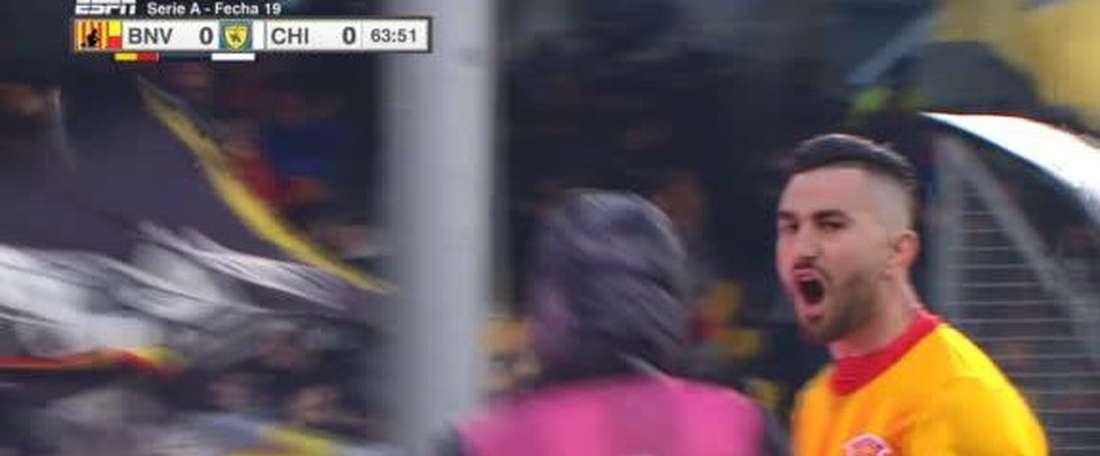 Benevento finally win in Serie A. Twitter