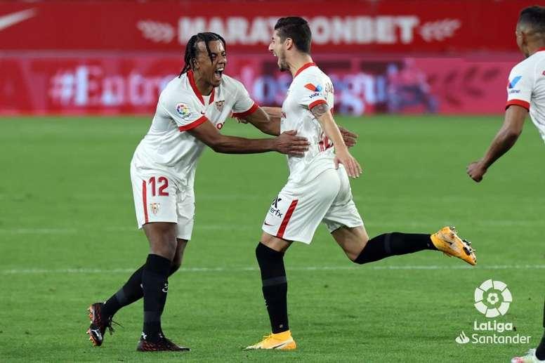 Koundé anotó uno de los goles del Sevilla. LaLiga
