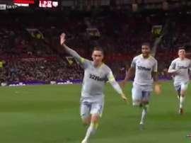 Wilson marcó el 1-1 ante el Manchester United. Captura/Sky