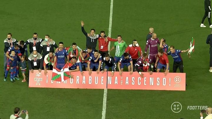 El Amorebieta ascendió a Segunda División. Captura/Fotters