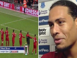 Liverpool link arms after a draw against West Brom in 2015-16, and Van Dijk makes his comments.