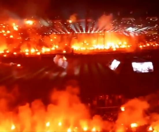 As espetaculares celebrações do PAOK. Twitter/shumansko