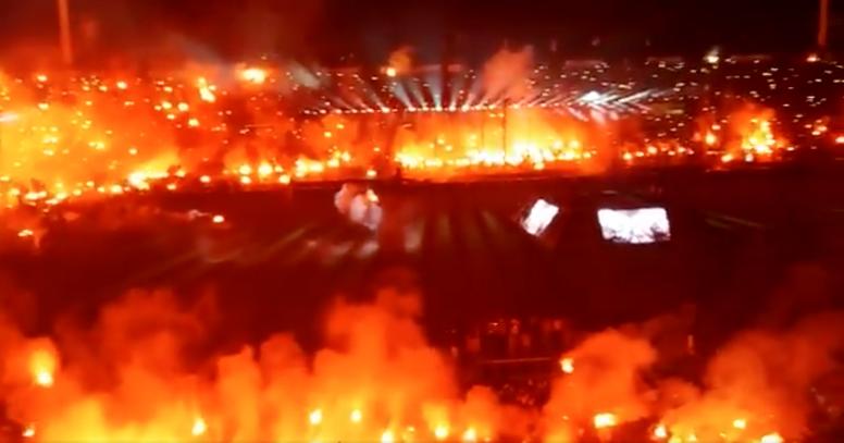 Infierno en Salónica para celebrar el título del PAOK. Twitter/shumansko