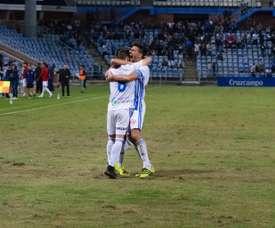 El Recre se impuso gracias a los goles de Caye e Iago Díaz. RecreativodeHuelva