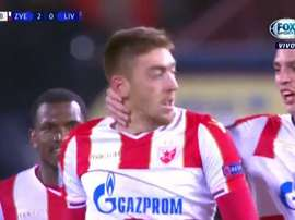 Pavkov a blessé Liverpool en sept minutes. FoxSports