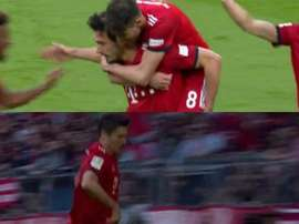 Hummels did not celebrate, Lewandowski did. Capturas/Vamos