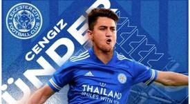 Cengiz Ünder, reforço do Leicester para a temporada 2020-21. Captura/LeicesterCity