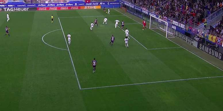 Sergi Enrich marque le but du 2-0 à Ipurua. Capture/BeINSports