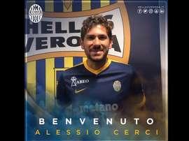 Cerci es ya nuevo jugador del Hellas Verona. HellasVerona