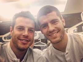 Morata já se treina no Chelsea. Twitter/ClassicMorata