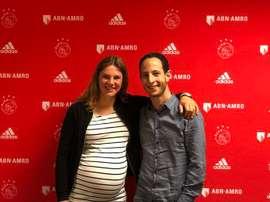Chantal de Ridder apenas ha podido jugar este curso por su embarazo y una lesión. AjaxFemenino