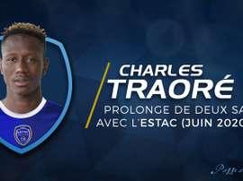 Traoré poursuivra sa route à Troyes jusqu'en 2020. ESTACTroyes