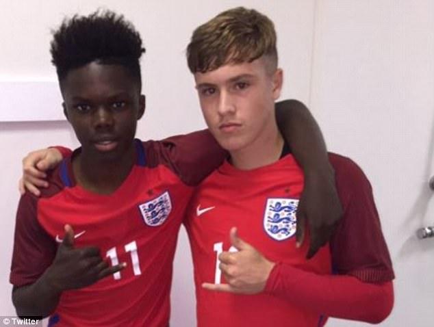 McCann (right) has joined boyhood club Manchester United. Twitter