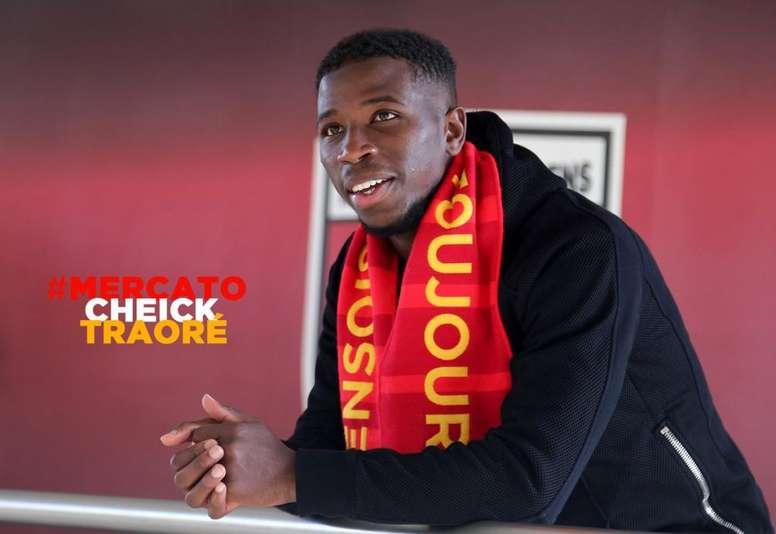 Cheick Traoré ya es jugador del Lens. RCLens