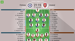Chelsea v Arsenal. Premier League 2019/20. Matchday 24, 21/01/2020-official line.ups. BESOCCER