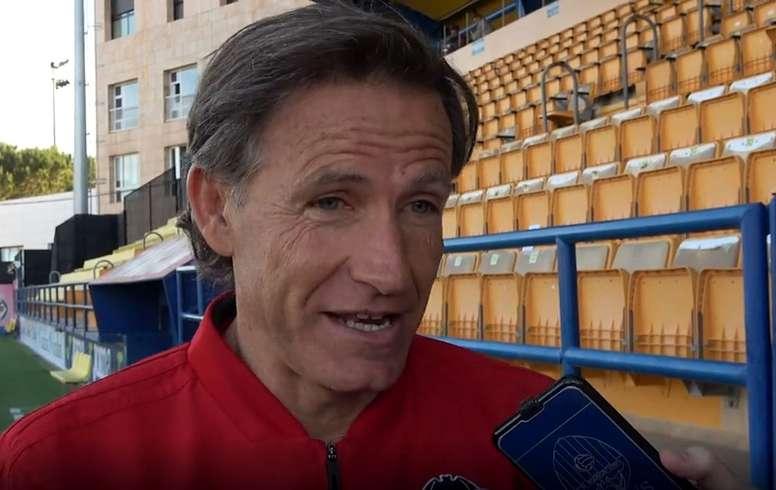 Chema Sanz está convencido de lograr la permanencia. ValenciaCF