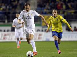 Cheryshev, durante el partido ante el Cádiz. Twitter