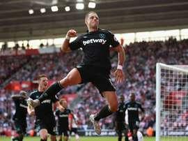 Javier Hernandez got the crucial goal. WestHam