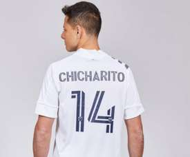 Um Chicharito Hernández. Twitter/LAGalaxy