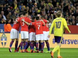 Chile brilló en la noche sueca. Twitter/LaRoja