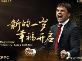 Chris Coleman, nouvel entraîneur de l'Hebei China Fortune. HebeiChinaFortune