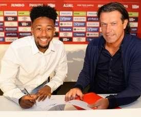 Gloster rejoint le PSV Eindhoven. Twitter/PSV